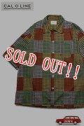 「CAL O LINE」E.C Short Sleeve Shirt キャルオーライン E.C ショートスリーブ サテンシャツ  CL201-047 [ブラック]