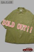 「CAL O LINE」CATALINA Shirt キャルオーライン カタリナシャツ リップル生地 CL201-045 [リーフ]