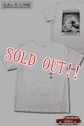 「CAL O LINE」AMERICA WAVE T-SHIRTS キャルオーライン アメリカウェーブ 半袖Tシャツ  CL201-081 [ホワイト]