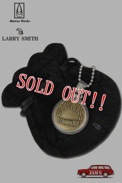 画像1: 「Button Works」×「Larry Smith」Vintage Button Necklace ボタンワークス × ラリースミス ヴィンテージボタン 懐中時計 シルバーネックレス [CARTERS]