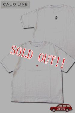 画像1: 「CAL O LINE」HINOMARU PRINT T-SHIRTS キャルオーライン 日の丸 東京 プリント半袖Tシャツ CL202-083B [ホワイト]