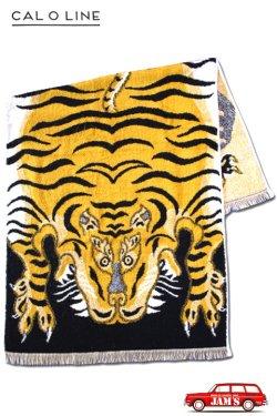 画像1: 「CAL O LINE」 TIBETAN TIGER BLANKET TOWEL キャルオーライン チベタン タイガー ブランケット 今治タオル CL020 [イエローブラック]