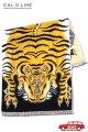 「CAL O LINE」 TIBETAN TIGER BLANKET TOWEL キャルオーライン チベタン タイガー ブランケット 今治タオル CL020 [イエローブラック]