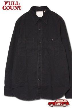 画像1: 「FULLCOUNT」BASIC CHAMBRAY SHIRTS フルカウント ベーシック シャンブレーシャツシャツ  [ブラック]