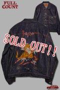 「FULLCOUNT」Souvenir Embroidary Type1 Denim Jacket フルカウント スーベニア 刺繍 デニムジャケット [インディゴ]