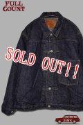 「FULLCOUNT」Houndstooth Blanket Lined Type 1 Jacket フルカウント ブランケット付き デニムジャケット ファースト [インディゴ]