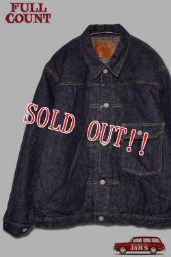 画像1: 「FULLCOUNT」Houndstooth Blanket Lined Type 1 Jacket フルカウント ブランケット付き デニムジャケット ファースト [インディゴ]