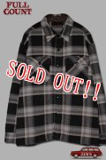 「FULLCOUNT」Big Check CPO Wool Shirt フルカウント ビッグチェック ウールシャツ [ブラック]