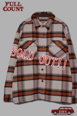 画像1: 「FULLCOUNT」Big Check CPO Wool Shirt フルカウント ビッグチェック ウールシャツ [オレンジ]