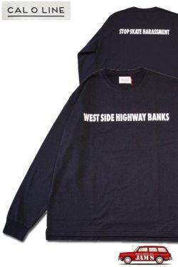 画像1: 「CAL O LINE」WESTSIDE BANKS L/S Tee キャルオーライン ウエストサイド バンクス プリント 長袖Tシャツ  CL211-055 [ブラック]