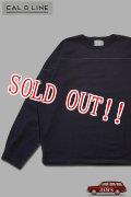 「CAL O LINE」NEW FOOT BALL L/S Tee キャルオーライン フットボール 長袖Tシャツ  CL211-037 [ブラック]