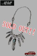 「Mt.hill」Feather Necklace No.8 Turquoise マウントヒル フェザーネックレス ナンバー8 ターコイズ [20210501]