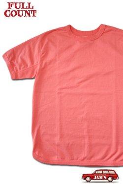 画像1: 「FULLCOUNT」Flatseam Heavy Weight T-Shirt フルカウント フラットシーマ 半袖Tシャツ  [フェード レッド]