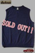 「Jackman」USA Cotton Tee Vest ジャックマン コットンカットソー ベスト JM5118 [ネイビー]