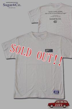 画像1: 「Sugar & Co.」MJ POPS Drop Tee シュガーアンドカンパニー ポップスプリントドロップ Tシャツ [ホワイト・ブラック]
