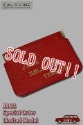 [JAMS10周年限定20個]「CAL O LINE」「SEAN&BEN」「JAMS」 LEATHER CARD CASE キャルオーライン レザー カードケース CSW-121JM [レッド]