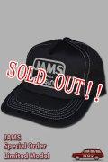[10個限定販売]「JAMS ORIGINAL」RELIEVES MESH CAP ジャムズオリジナル リリーブス メッシュキャップ J2107 [ブラック (ホワイトステッチ)]