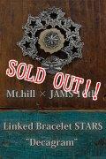 """[8/9より数量限定受付スタート] [完全受注生産限定モデル] 「Mt.hill」×「JAMS」10th Anniversary Special Model Linked Bracelet STARS """"Decagram"""" マウントヒル リンクブレスレット スターズ デカグラム [シルバー]"""