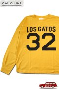 「CAL O LINE」LOS GATOS 32 FOOT BALL L/S Tee キャルオーライン ナンバリングプリント フットボール 長袖Tシャツ  CL212-001 [イエロー]