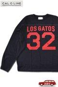 「CAL O LINE」LOS GATOS 32 FOOT BALL L/S Tee キャルオーライン ナンバリングプリント フットボール 長袖Tシャツ  CL212-001 [ブラック]