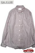 「CAL O LINE」CLASSIC B.D. SHIRT キャルオーライン クラシックボタンダウンシャツ CL211-021 [ピンストライプ/ブラック]